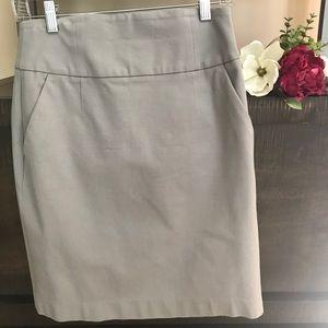 Banana Republic gray pencil skirt
